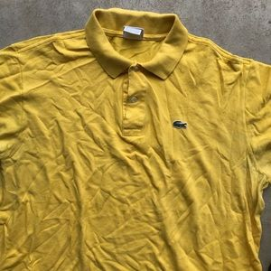 Lacoste men's short sleeve polo yellow shirt